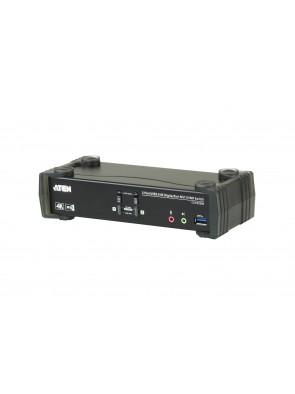 Aten 2-Port USB 3.0 4K DisplayPort MST KVMP Switch